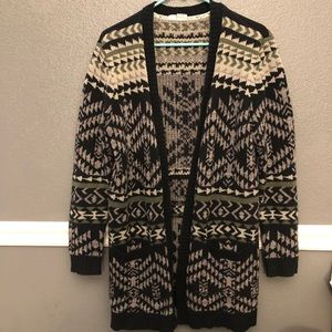 Roxy | Long Tribal Aztec Cardigan